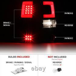 04-08 Ford F150 Lobo LED Fiber Optic Light Tube Bar Black Clear Tail Brake Lamp