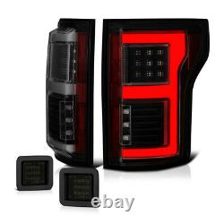 15-17 Ford F-150 C-Shape OLED Signal Tail Lamp Smoke SMD LED License Plate Light
