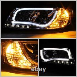 1998-2001 Audi A6 C5 Black Ultra Neon Tube LED DRL Projector Headlights PAIR