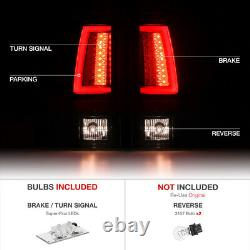 1999-2002 Chevy Silverado NEWEST OLED NEON TUBE Black LED SMD Tail Lights Lamp