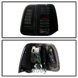 2003-2006 Lincoln Navigator SINISTER BLACK Smoke LED 4PC Rear Tail Lights Lamp