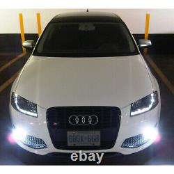 2006-2008 Audi A3 Black Projector Headlights with Daytime DRL LED Running Lights
