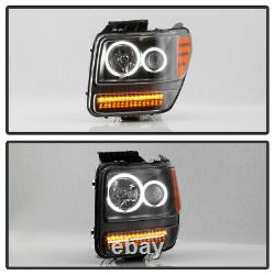 2007-2012 Dodge Nitro CCFL Halo DRL Projector Headlights withLED Signal Light Lamp