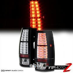 2007-2014 Chevy Tahoe Suburban GMC Yukon XL Black LED SMD Rear Tail Lights Lamps