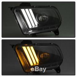 2010-2014 Ford Mustang Sequential DRL LED Headlights Headlamps Lights 10 11 12