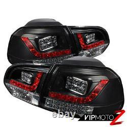 2010-2014 VW Golf GTI MK6 Black Euro LED Signal Brake Rear Tail Light Brake Lamp