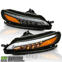 2014-2018 Jeep Cherokee Black LED DRL Running Lights with LED Turn Signal Lamps