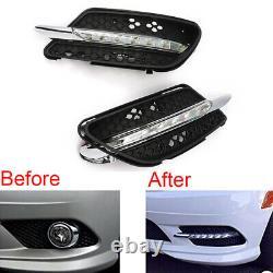 2PCS LED DRL Daytime Running Light Fog Lights for Mercedes Benz W204 AMG 08-11
