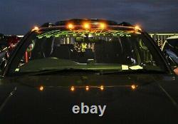 5x Amber LED Van SUV Pickup Roof Top Daytime Running Marker Cab Light DRL Black