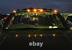5x Black Amber LED Van Truck Pickup Add On Roof Top Running Marker Cab Light DRL