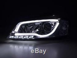 Audi A3 2003-2008 8p Black R8 Led Light Bar Drl Devil Eye Projector Headlights