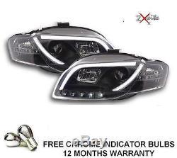 Audi A4 05-08 B7 Black Light Bar Drl Lights Headlights Saloon Avant Convertible