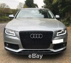 Audi A4 B8 2008-2011 Black Light Bar Led Drl Daylight Running Lights Headlights