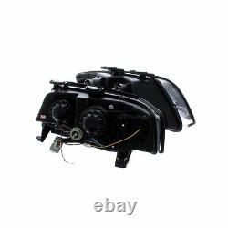 Audi A6 2001-2005 Black DRL Devil Eye R8 Head Light Lamp Pair Left & Right