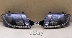 Audi Tt 1999-2007 8n Black Led Drl Daylight Running Lights Devil Eye Headlights
