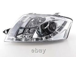 Audi Tt 1999-2007 8n Chrome Led Drl Daylight Running Lights Devil Eye Headlights