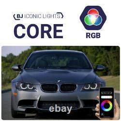 BJ Iconic Lights (CORE RGB) BMW 3 E92/ E93/ M3 E90 Xenon LED Angel Eyes halo