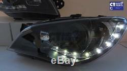 BLACK LED DRL Projector Head Lights for 05-07 Subaru Impreza WRX STi RX