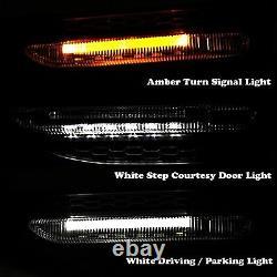 BLK Black Universal JDM Dual Color White/Amber LED Side Marker Lights Lamp U4
