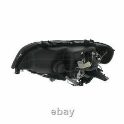 BMW X5 E53 2000-2004 Black DRL Devil Eye Head Light Lamp Pair Left & Right