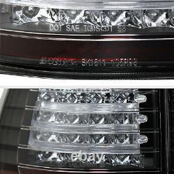 BRIGHTEST For 00-06 BMW X5 E53 Black Red LED Signal Rear Brake Tail Light Lamp