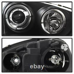 Black 2006-2009 VW GTI Jetta Rabbit LED Halo Projector Headlights with DRL Lights