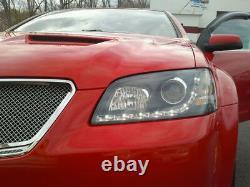 Black 2008 2009 2010 Pontiac G8 LED DRL Projector Headlights with Running Lights