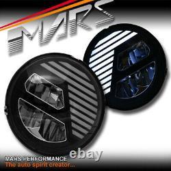 Black 7 inch Full High Power LED DRL Head Lights for Jeep Wrangler JK TJ