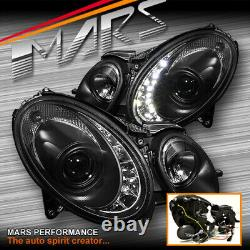 Black DRL Head lights for Mercedes-Benz E-Class W211 2003-2008 -HID/Xenon Only