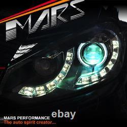 Black DRL LED CCFL Angel Eye Dual Beam Projector Head Lights for VW GOLF VI MK-6