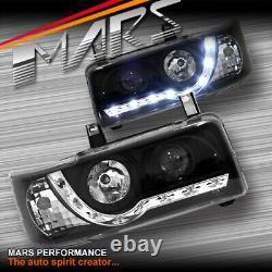 Black DRL LED Day Time Projector Head Lights for VolksWagen VW Transporter T4