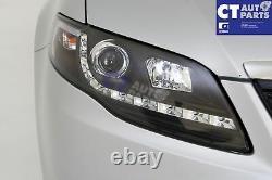 Black DRL LED Head Lights for Ford Falcon FG Sedan FPV Ute GS Series 1