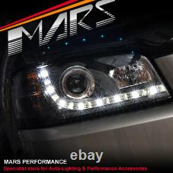 Black DRL LED Projector Head Lights for Ford Territory SX SY 04-08 Headlight