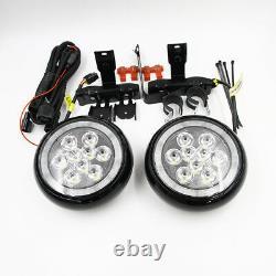 Black Front Bumper Mini Rally Lights For Mini Cooper F55 F56 F57 Driving DRL Fog