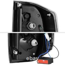 Black Housing Clear Lens Full LED Brake Signal Tail Lamp For 14-21 Toyota Tundra
