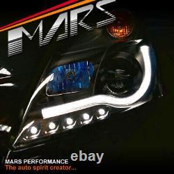 Black LED 3D Stripe Bar DRL Projector Head Lights for Suzuki Swift FZ 11-17