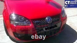Black LED DRL Angel Eyes Projector Head Lights for 03-08 VW GOLF V TDI GTI