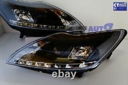 Black LED DRL Day Time Projector Head lights for 08-11 FORD FOCUS XR5