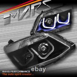 Black LED DRL Projector Head Lights for ISUZU D-MAX 2012-2016 DMAX D-MAX UTE