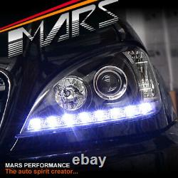 Black LED DRL Projector Head Lights for Mercedes-Benz ML-Class W163 1998-2001