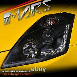Black LED DRL Projector Head Lights for Nissan Z33 350Z 2003-2005 Fairlady
