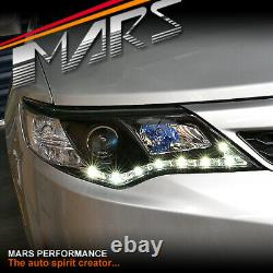 Black LED DRL Projector Head Lights for TOYOTA CAMRY 2012-15 Altise Atara Hybird