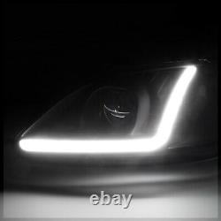 Black Projector Headlight Light LED BAR DRL Clear Signal for 99-00 Honda Civic