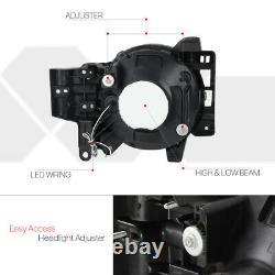 Black/Smoke LED LIGHT BAR DRL Headlight Head Lamp for 07-14 Toyota FJ Cruiser