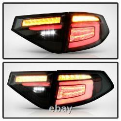 Black Smoke LED Sequencial Tail Light Lamp For 08-14 Subaru Impreza WRX Hashback