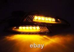 Black Smoked LED Daytime Running Light Side Turn Indicator DRL VW Scirocco 08-14