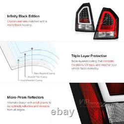 Black TRON STYLE OLED Tube Tail Light Signal Lamp For 05-07 Chrysler 300C SRT8