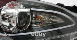 Black finish headlights with DRL TFL light tube for MAZDA 3 BL 2009-2013