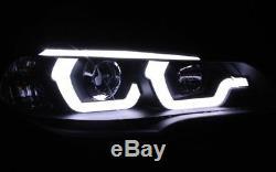 Black finish lightbar DRL light halogen headlights for BMW E70 X5 06-13