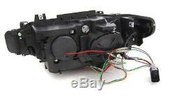 Bmw F30 F31 2011-15 Black Light Bar U Led Drl Daylight Running Lights Headlights